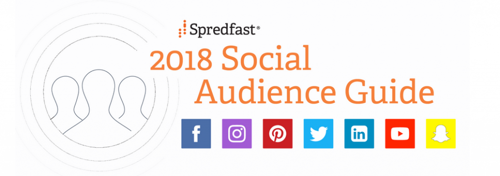 screen shot of heading for 2018 Social Audience Guide by spredfast.com