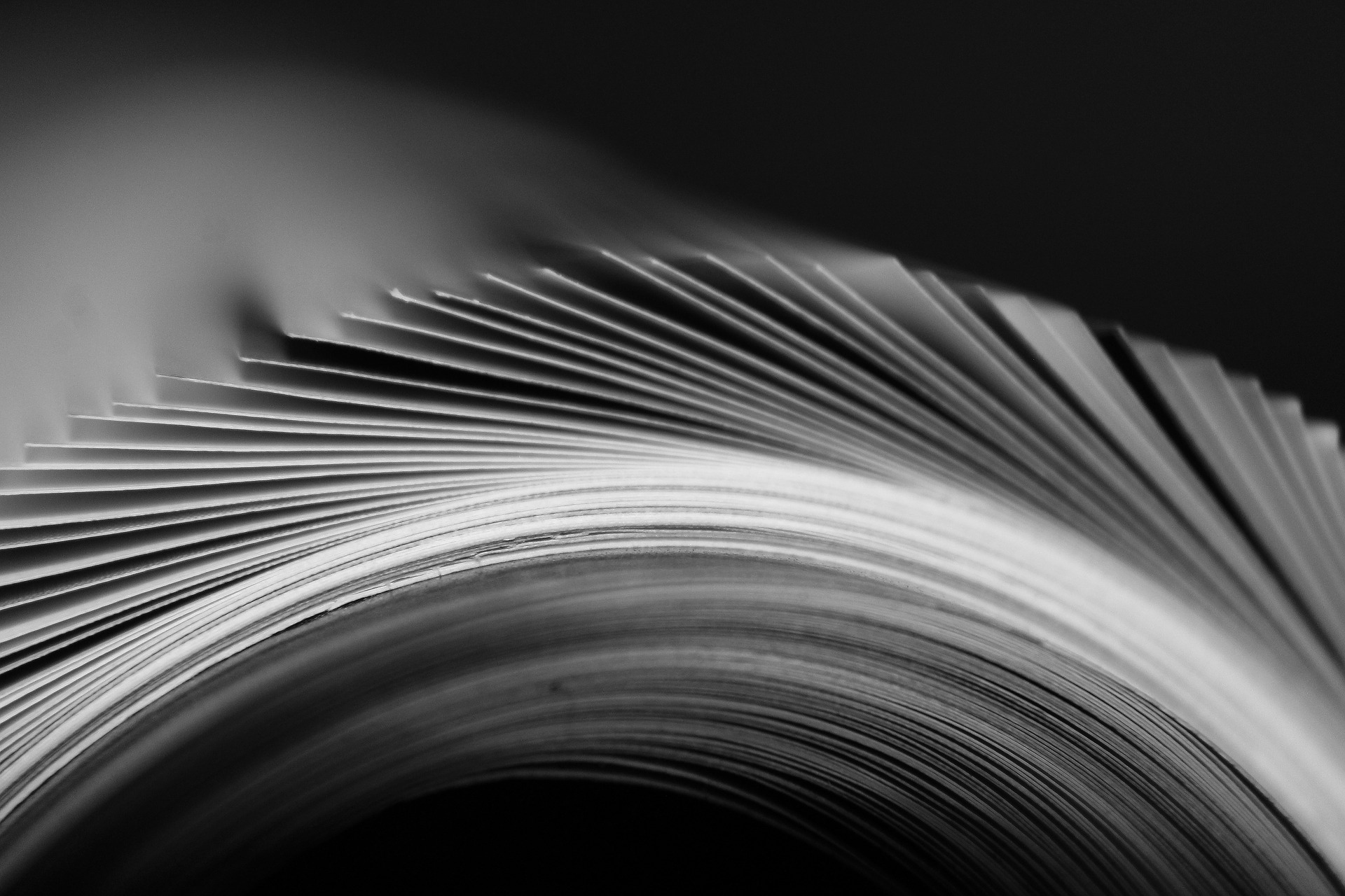 picture of pages flipping in a book publication